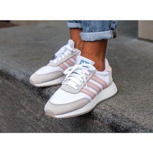 Adidas I-5923 Iniki Grey White Pink Sneakers